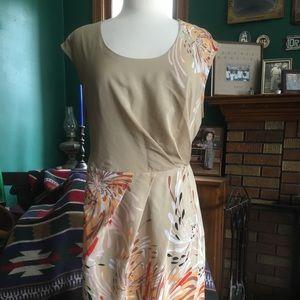 Tan wrap dress